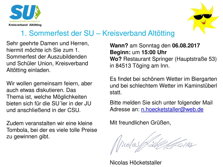 [1]Einladung Sommerfest SU KV Altötting